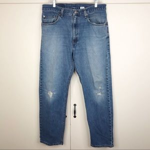 Levi's 505 vintage Straight Leg Distressed Jeans